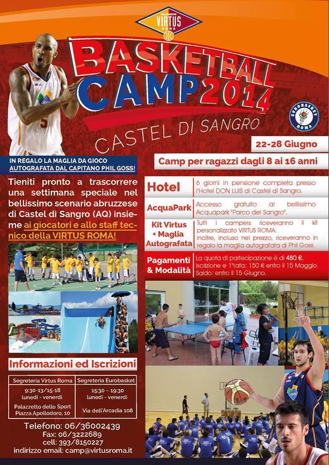 Basket - Castel di Sangro si prepara al Camp2014