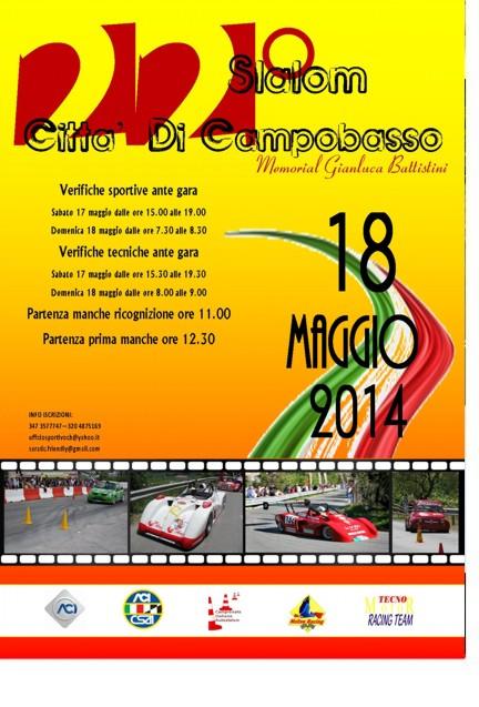 """Rally - Domenica, """"Slalom città di Campobasso"""""""