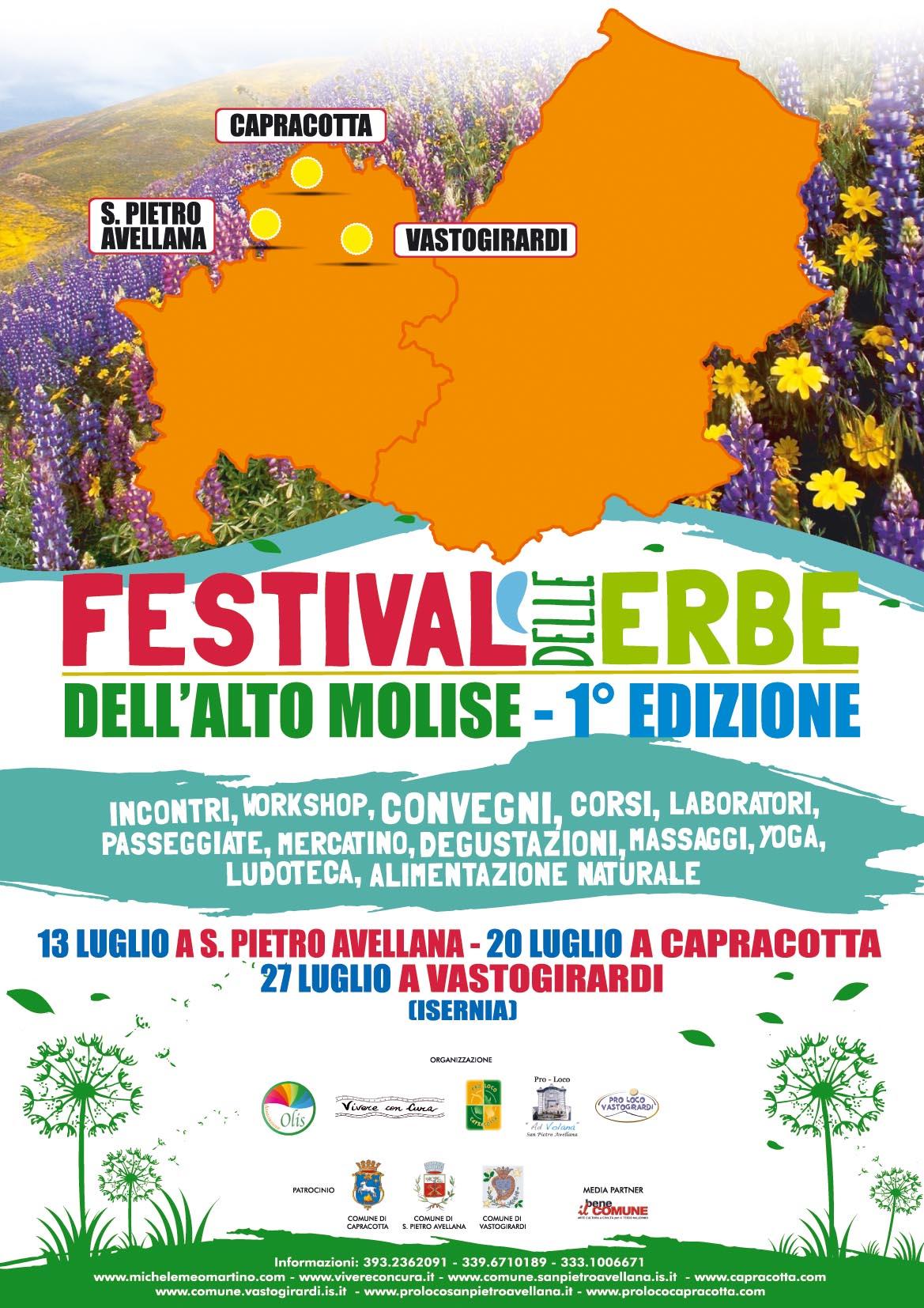 """Vastogirardi, Regina della natura ospita il """"Festival delle Erbe"""""""
