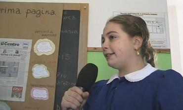 Giornalisti per un giorno alla 'Primaria' di Ateleta, gli alunni realizzano un videoservizio