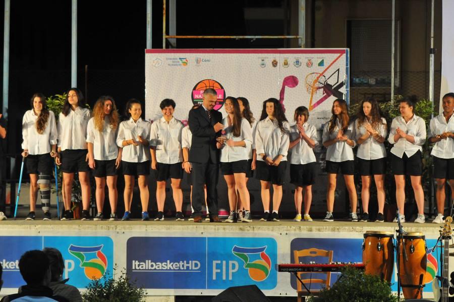presentazione Adriatica pescara, sul palco dell'arena delle palme