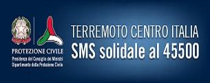 Terremoto Centro Italia sms solidale