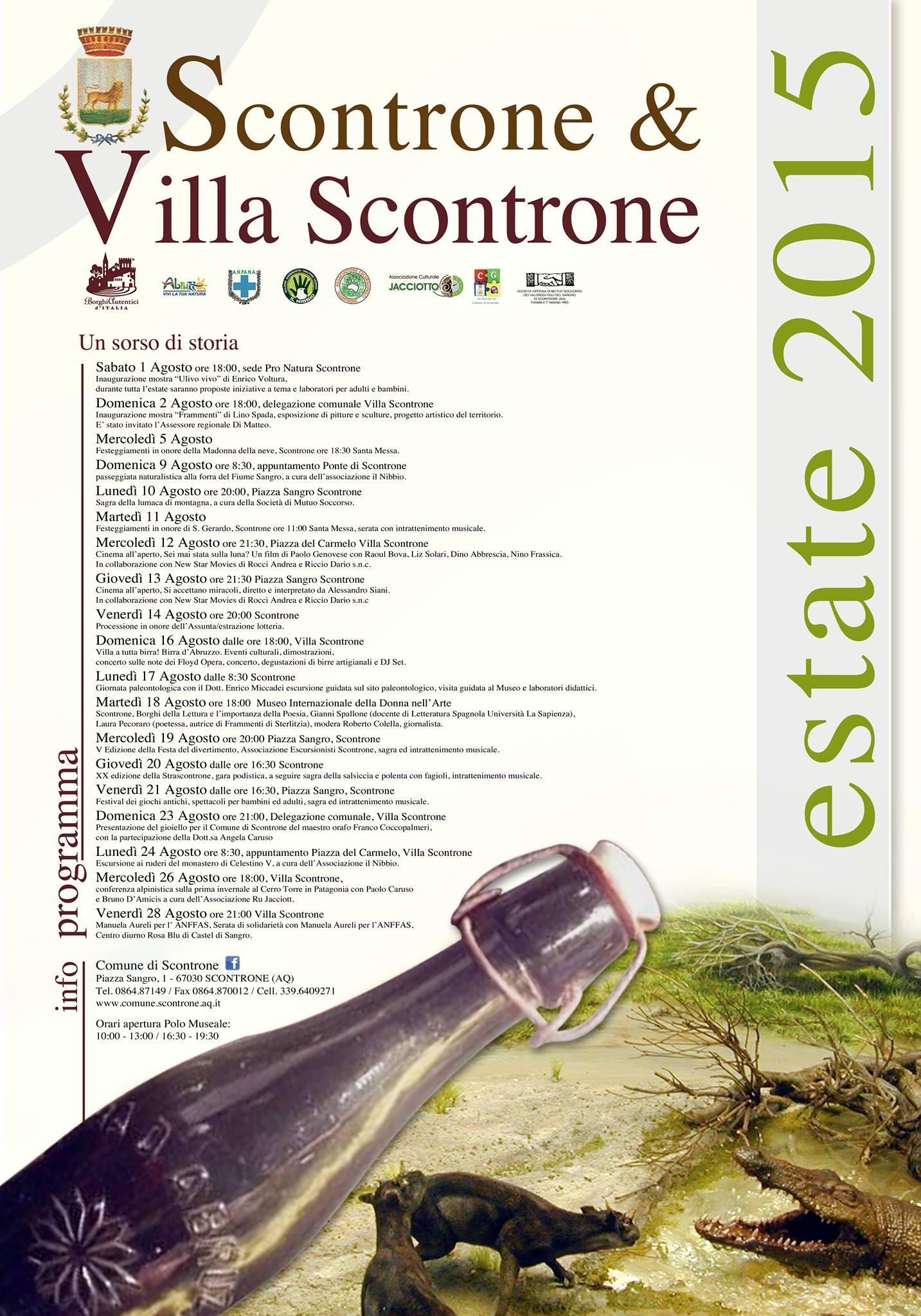 Calendario eventi agosto_Scontrone