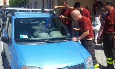 Vigili del Fuoco salvano la vita a due cani rimasti chiusi in automobile