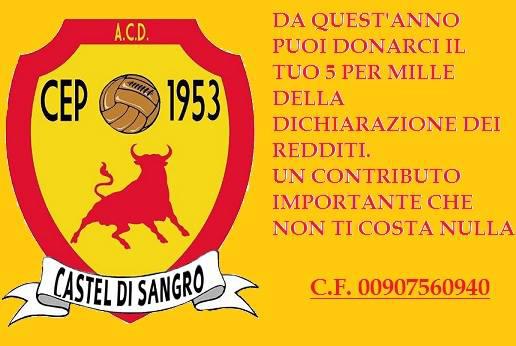 Castel di Sangro Cep 1953 donazione 5x1000