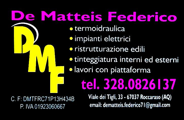 De Matteis Federico - Termoidraulica - Impianti elettrici
