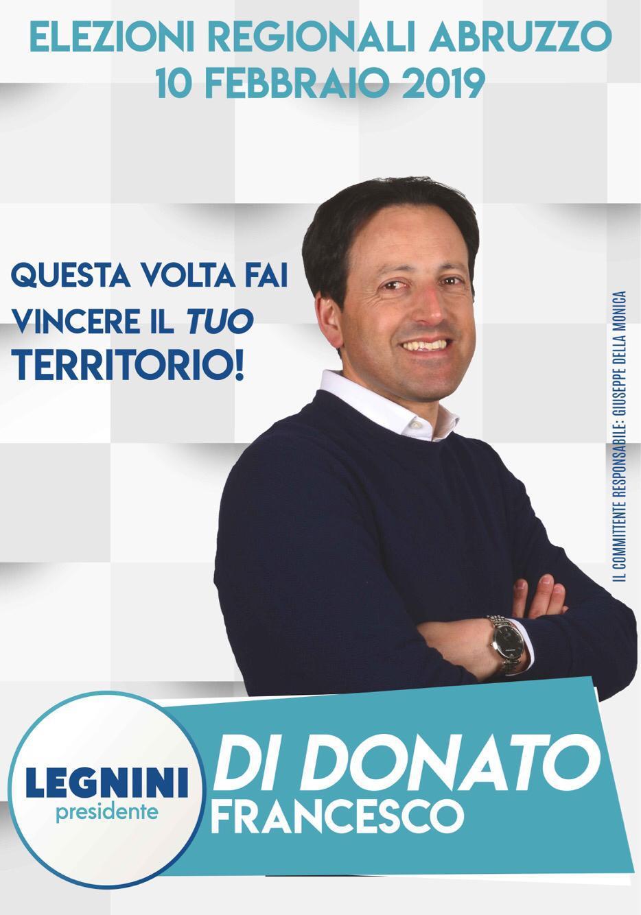 Elezioni Regionali Abruzzo 2019 Francesco Di Donato - Legnini Presidente