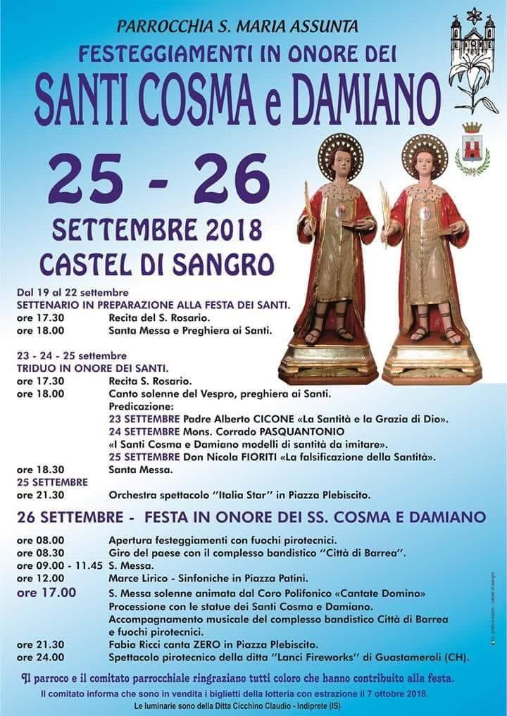 Festeggiamenti Santi Cosma e Damiano - Castel di Sangro