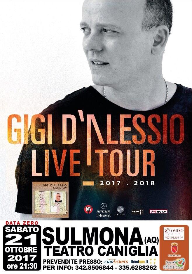 Gigi D'Alessio Live Tour 2017 - Sulmona
