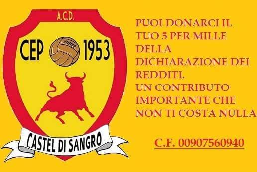 5x1000 - Castel di Sangro calcio - cep 1953