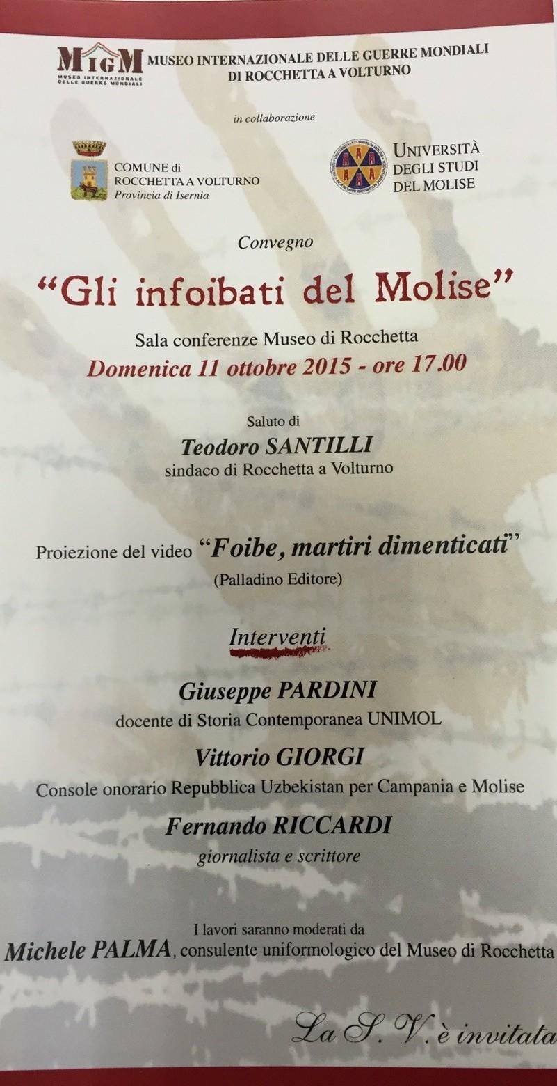 Convegno Rocchetta a Volturno domenica 13 ottobre 2015