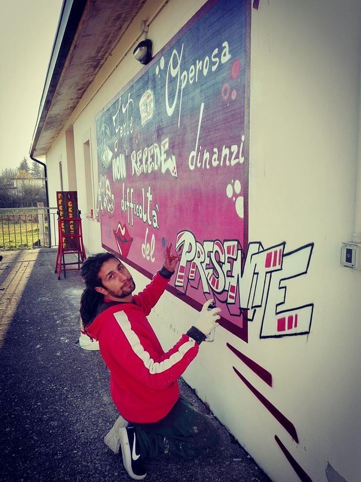 Villa Scontrone graffitari Fantacuzzi e Marotta giornata internazionale sulla violenza contro le donne