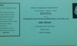 """Castel di Sangro, cerimonia d'intitolazione dell'Istituto Comprensivo ad """"Alda Merini"""""""