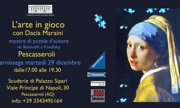 """Pescasseroli, mostra di Dacia Maraini:  """"l'arte in gioco"""""""