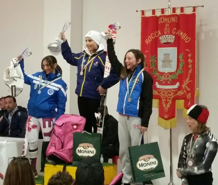 Francesca Carolli 2.a classificata sul podio