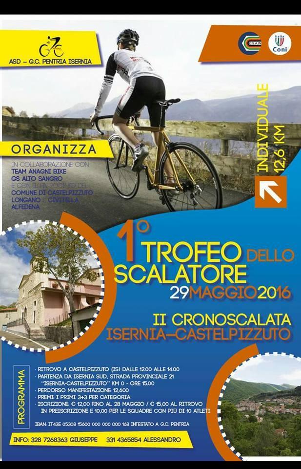Locandina 2016 Trofeo dello Scalatore prova Castelpizzuto