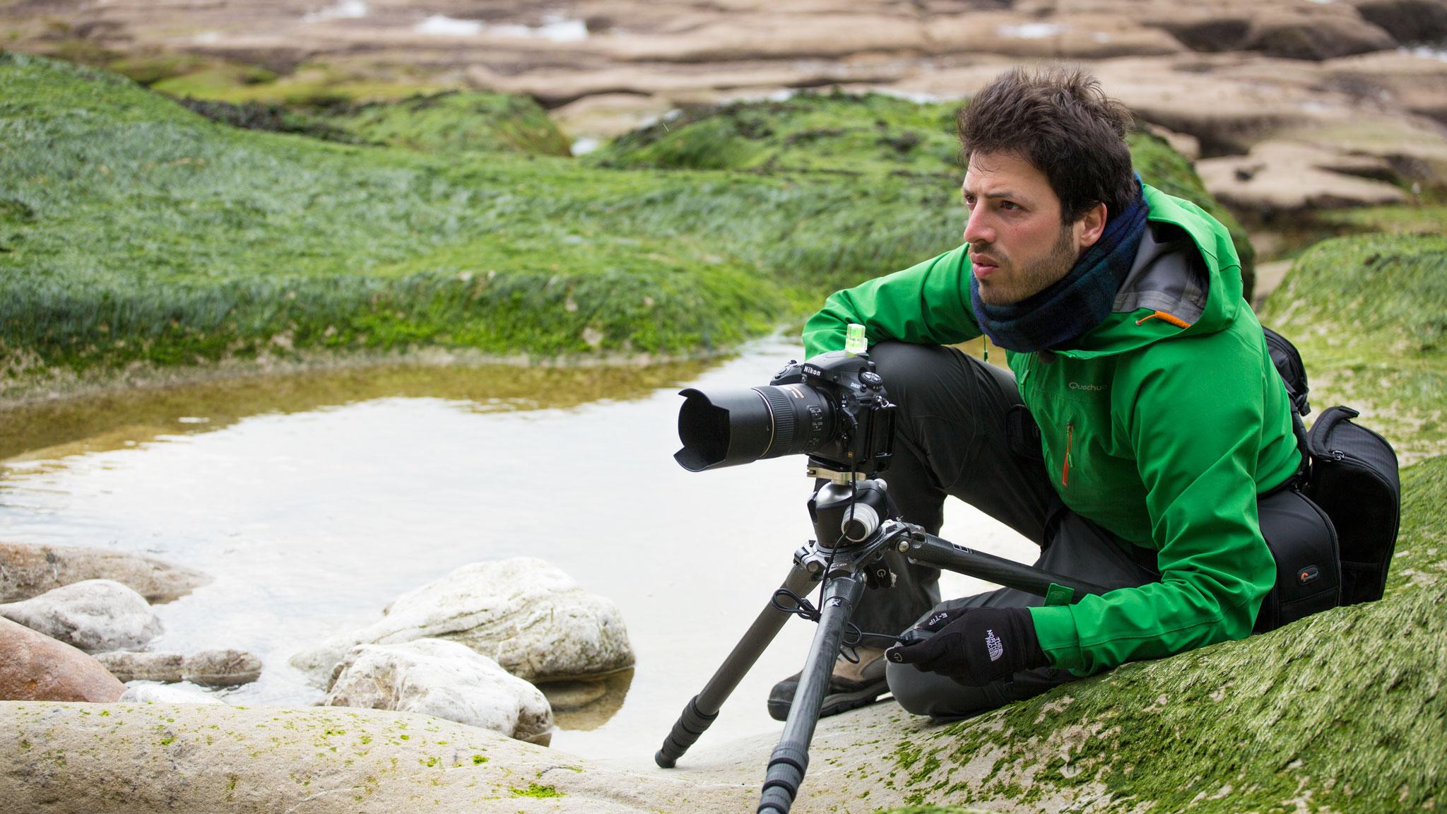 il fotografo isernino Francesco Carovillano a lavoro 2016