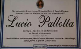 Necrologio - Castel di Sangro, si è spento improvvisamente Lucio Pallotta