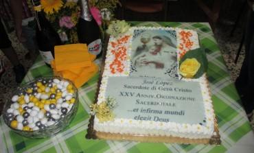 Roccamandolfi, 25° anniversario di sacerdozio del parroco don Josè Lopez