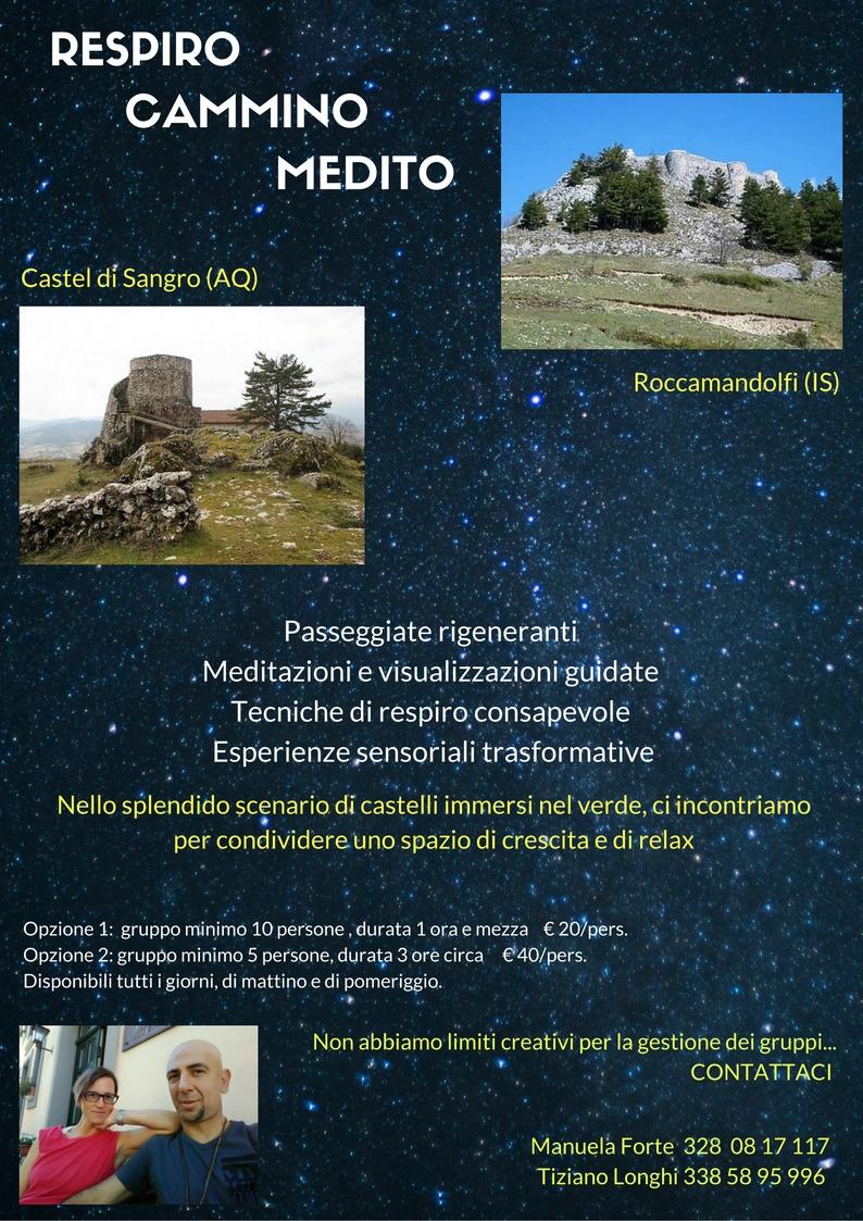 Respiro Cammino Medito Castel Di Sangro e Roccamandolfi