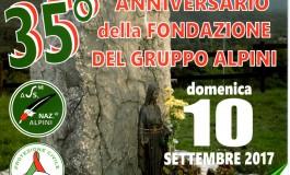 Ateleta, gli alpini festeggiano il 35° anniversario della fondazione