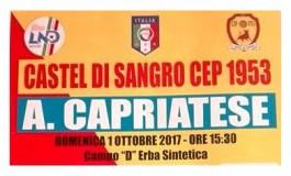 Calcio, diretta dell'incontro tra Castel di Sangro Cep 1953 e Aurora Capriatese