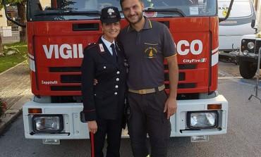 Carabinieri e Vigili del fuoco in festa: è nata una vita