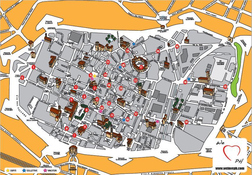 cartina Lucca