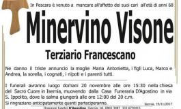 Lutto - Isernia, muore improvvisamente a 68 anni Minervino Visone