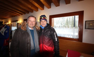 Potenziamento sci di fondo a Capracotta, Paglione incontra il campione Fauner