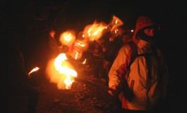 Civitella Alfedena, il 2018 si accende con la fiaccolata sui monti