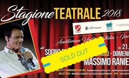 """Massimo Ranieri fa """"sold-out"""" per lo spettacolo all'Auditorium d'Isernia"""