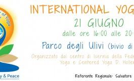 Fornelli, international yoga day al parco degli ulivi