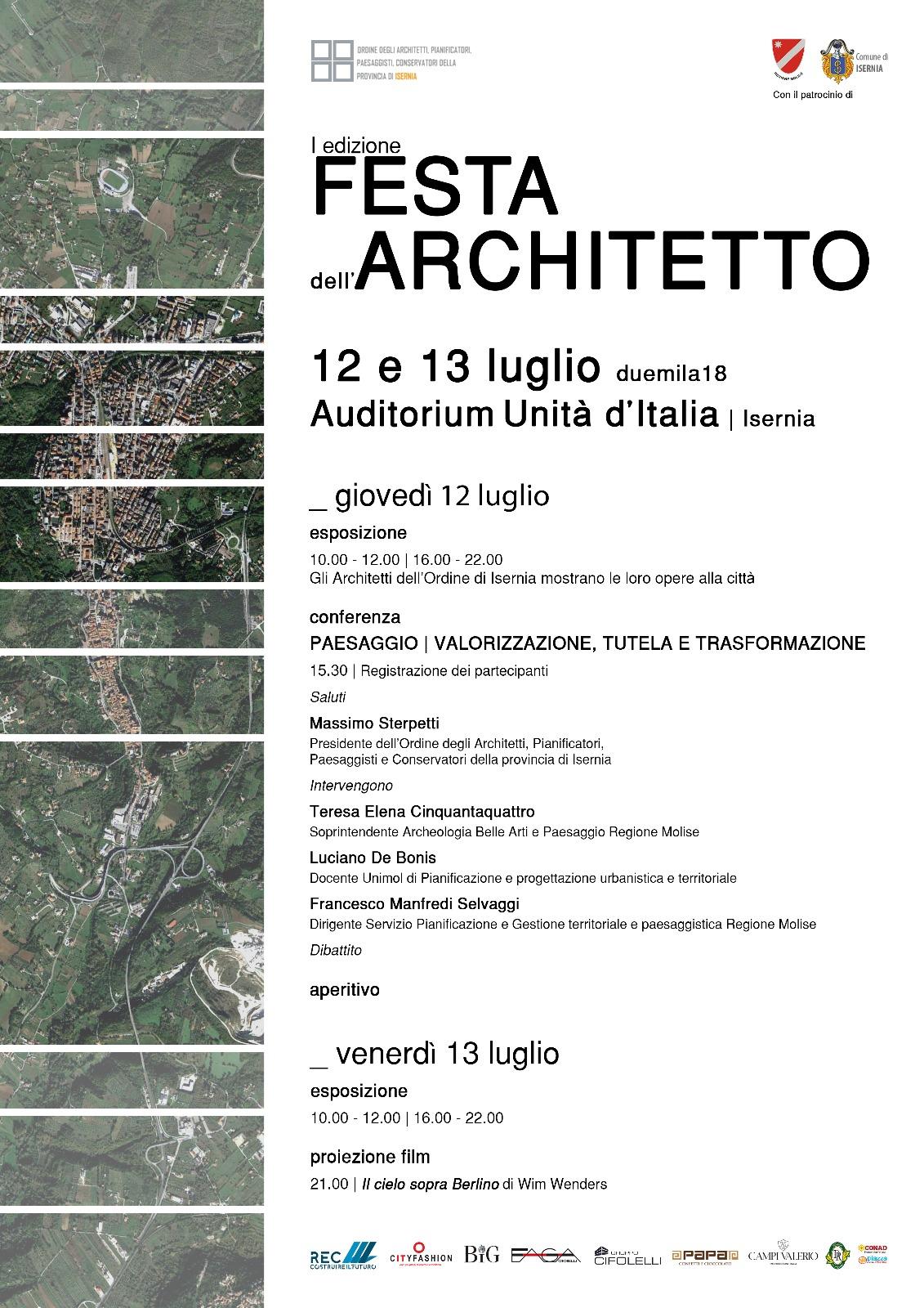 Festa Architetto 1^ Edizione - Locandina