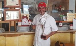 Castel di Sangro, Iorio vince la coppa al festival della pizza di Massa Carrara
