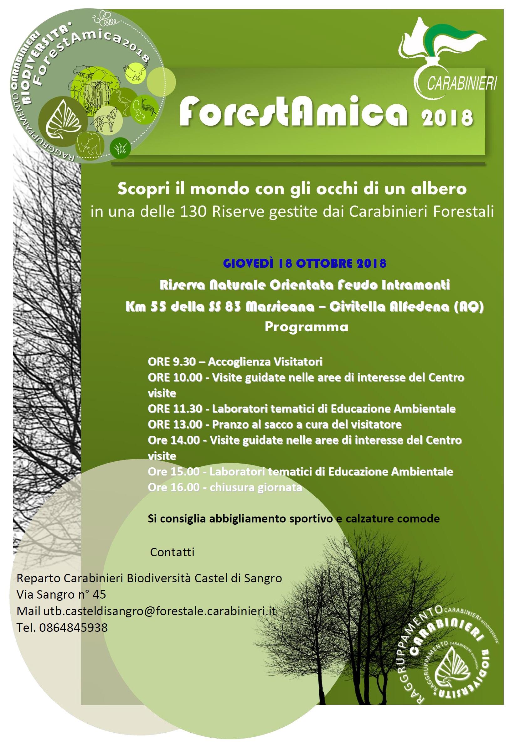 ForestAmica 2018 RNO Feudo Intramonti