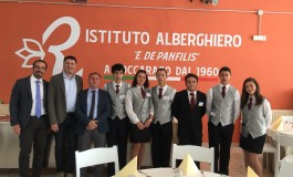 Roccaraso, visita di cortesia del presidente della provincia Caruso all'alberghiero