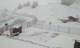 Prima nevicata a Roccaraso: gli sciatori iniziano a sognare