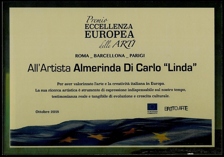 Premio Eccellenza Europea delle Arti - Artista Almerinda Di Carlo