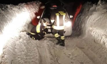 Roccaraso, brutto scherzo del navigatore: famiglia di romani sbaglia strada e resta bloccata dalla neve