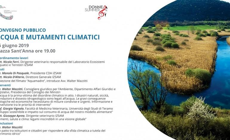 'Acqua e mutamenti climatici', convegno a Teramo organizzato dall'Istituto Zooprofilattico Abruzzo e Molise