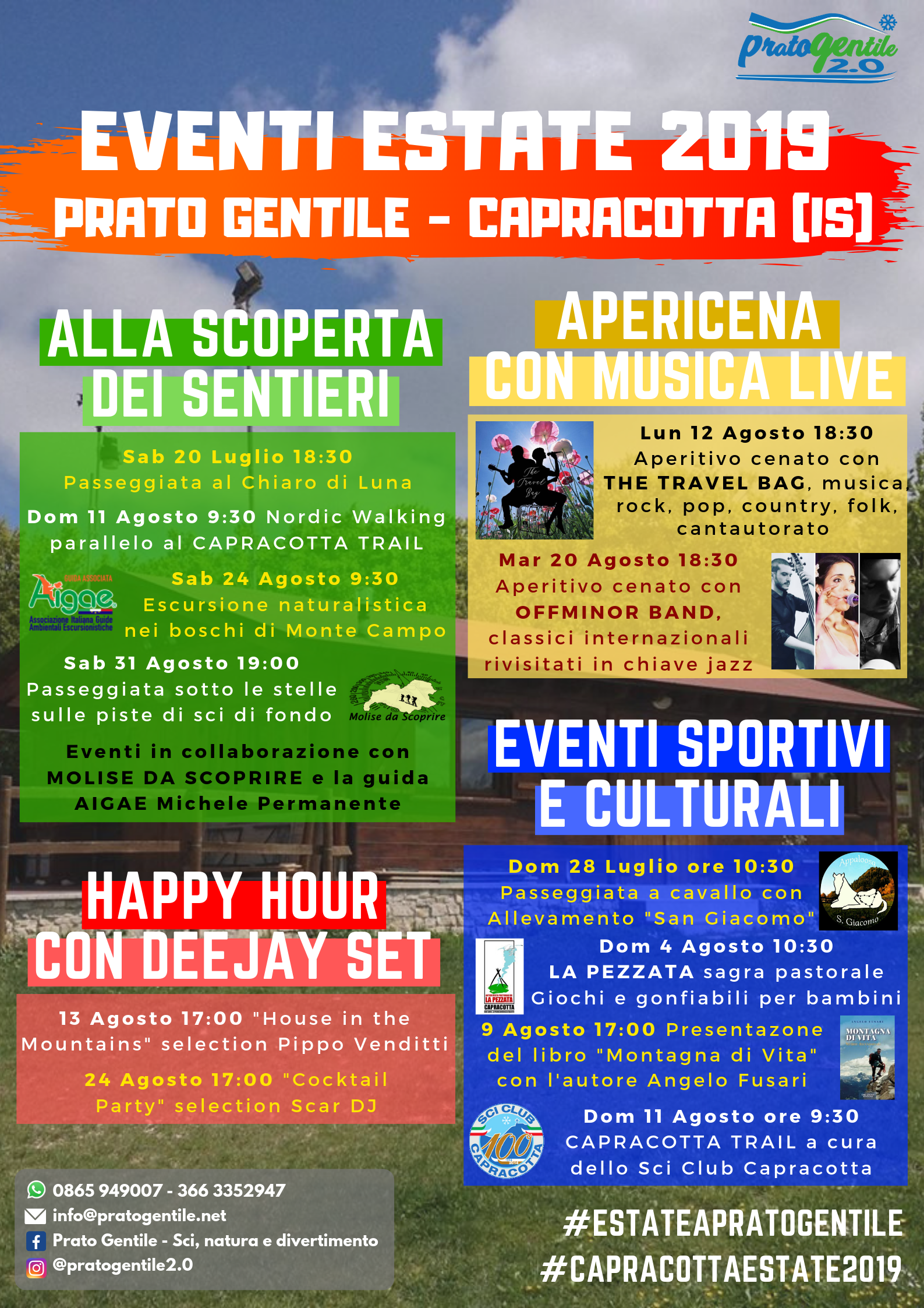 Eventi Estate 2019 - Prato Gentile