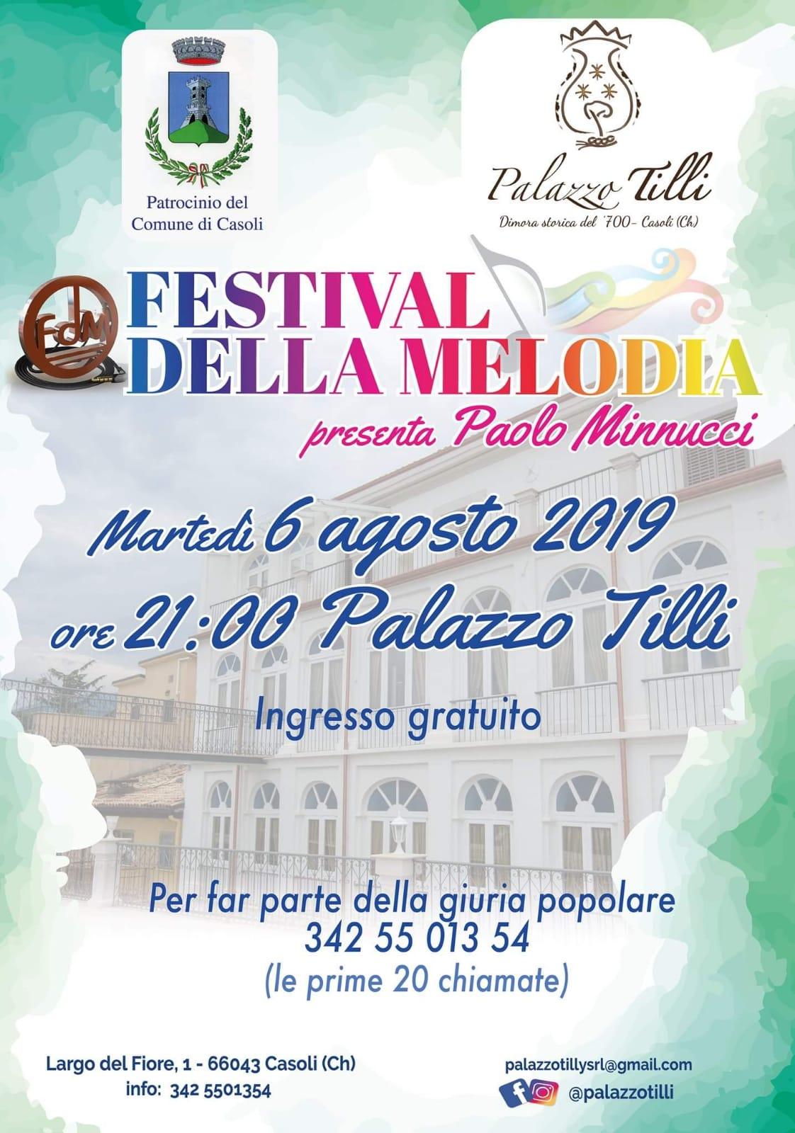 Locandina Festival della Melodia