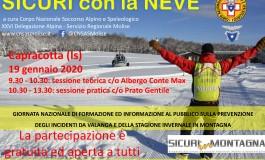 """A Capracotta il corpo nazionale del soccorso alpino per la giornata nazionale """"Sicuri con la neve 2020"""""""