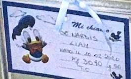 Fiocco azzurro in casa De Nardis: è nato Liam