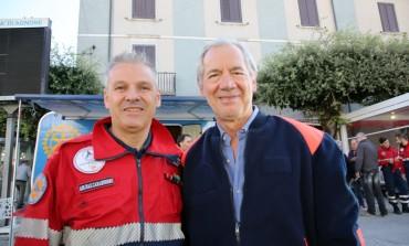 Gli auguri di Petrecca (Protezione civile Agnone) a Guido Bertolaso