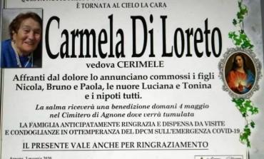 Agnone, si spegne Carmela Di Loreto: aveva sconfitto il covid-19
