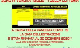 Castel di Sangro, slitta al 30 dicembre la lotteria della Confraternita Madonna del Rosario