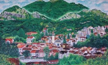 Dipinto di Ateleta, l'opera d'arte di Annalisa Sciullo nella sede degli Alpini