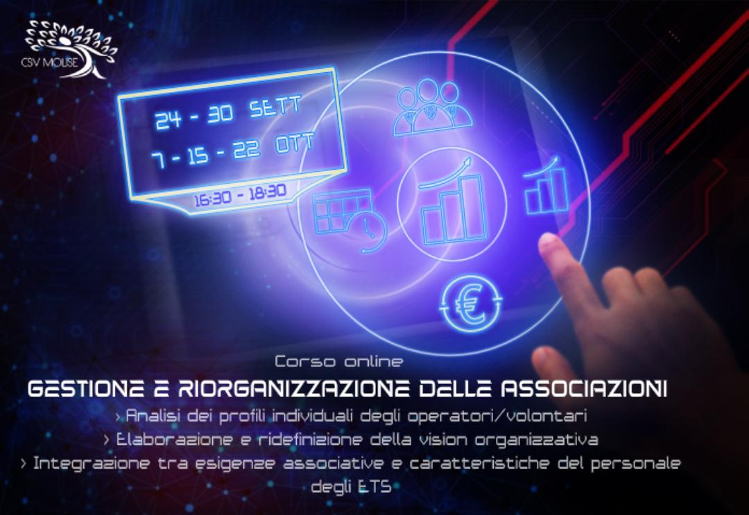 Locandina Corso gestione e riorganizzazione